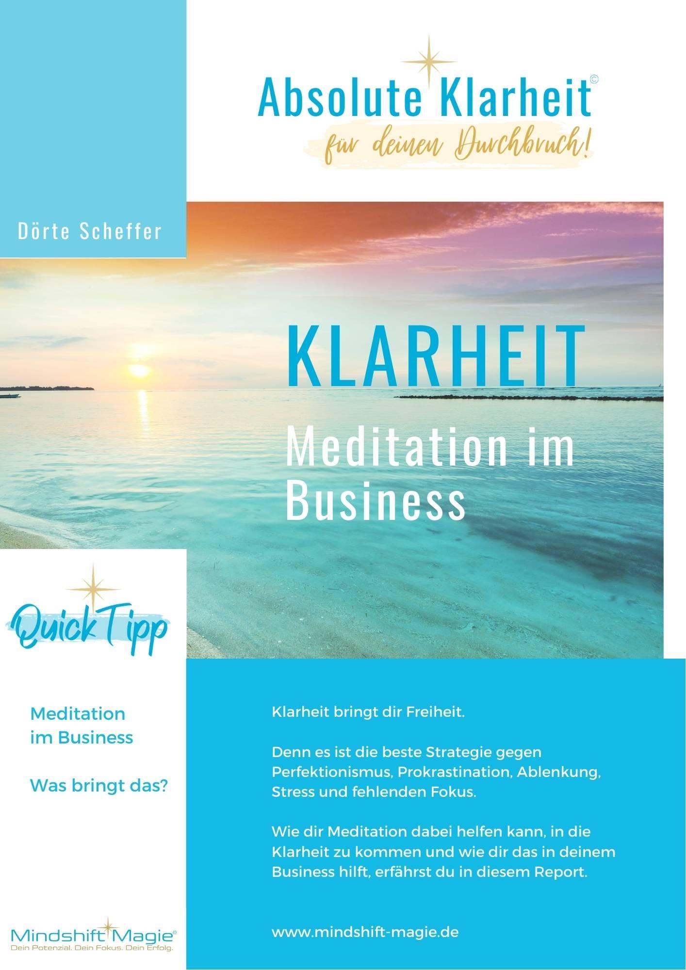 Meditation im Business